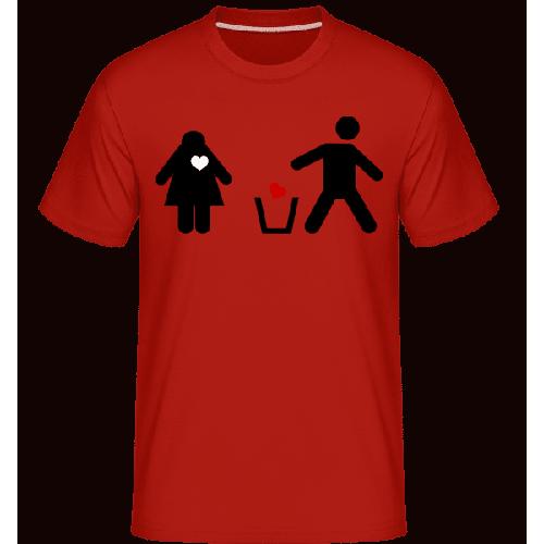 Herz Wegwerfen Logo - Shirtinator Männer T-Shirt