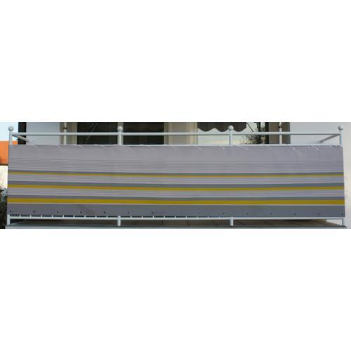 Angerer Freizeitmöbel Balkonsichtschutz Nr. 600, Meterware, gelb/grau, H: 90 cm gelb Markisen Garten Balkon