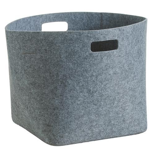 Zeller Present Aufbewahrungskorb, rund grau Ablagen Aufbewahrung Bad-Accessoires Bad Sanitär Aufbewahrungskorb