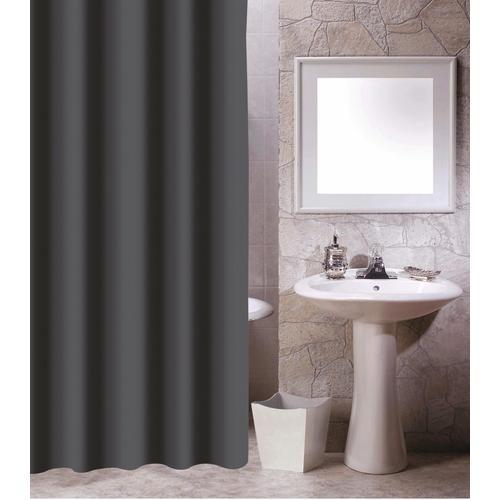 MSV Duschvorhang, Breite 180 cm, Höhe 200 cm grau Duschvorhang Badmöbel