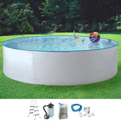 MyPool Rundpool Standard, (Set) weiß Swimmingpools Pools Planschbecken Garten Balkon