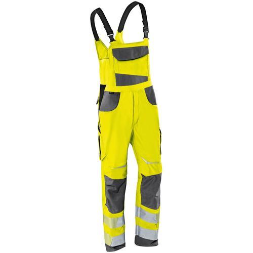 Kübler Arbeitslatzhose REFLECTIQ, S2, mit Knieschutz gelb Herren Latzhosen Arbeitshosen Arbeits- Berufsbekleidung