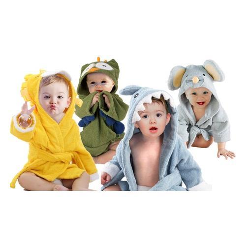 Bademantel für Babys: Eule und Hai/ 2