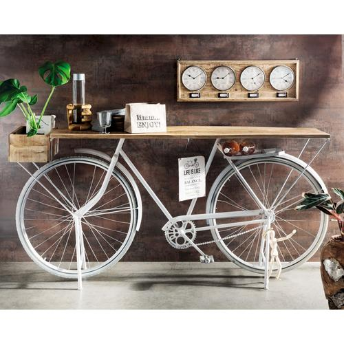 "die Faktorei Unikat ""Fahrrad-Konsole Whity"" 185x86x35 cm"