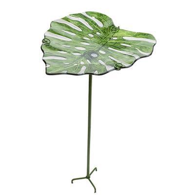 Tropical Leaf Birdbath - 1 per package
