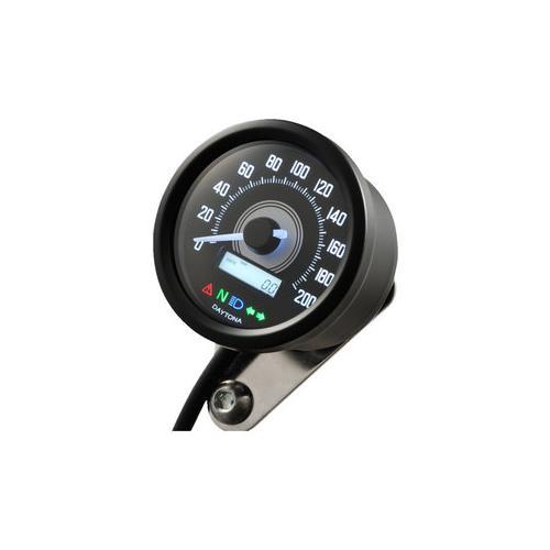 Daytona Velona 60 Tachometer 200 km/h schwarz