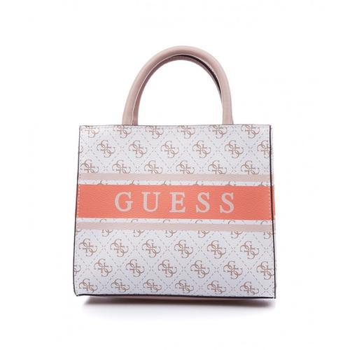 Guess Damen Handtasche Monique Weiß