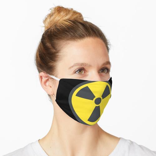 Strahlung / radioaktives Symbol Maske