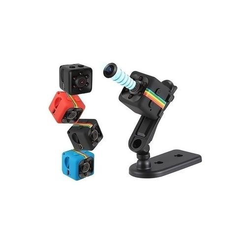2x Mini-Überwachungskamera mit Infrarot-Nachtsicht: 1x Schwarz + 1x Blau