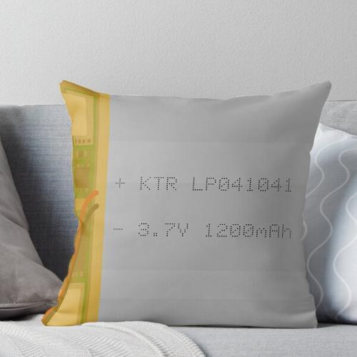 Lithium Polymer Battery Throw Pillow