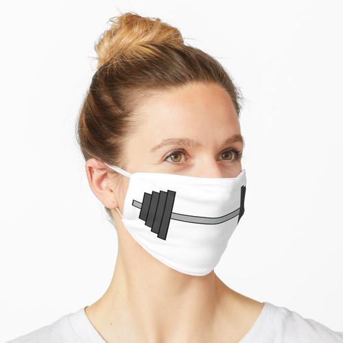 Klassische Langhantelgewichte Maske