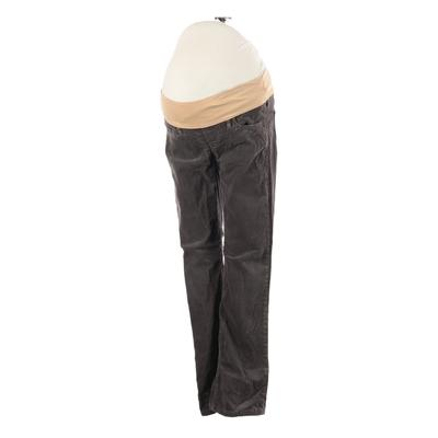 Gap Cord Pant: Gray Solid Bottoms - Size 26 Maternity