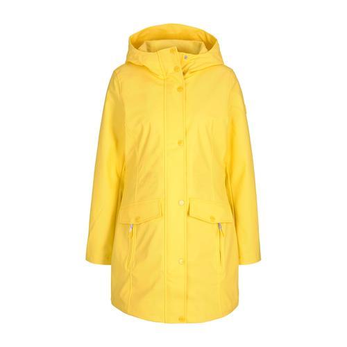 TOM TAILOR Damen leichte beschichtete Regenjacke, gelb, Gr.L