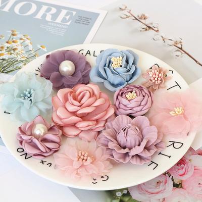 Mélange de fleurs en tissu 10 pi...