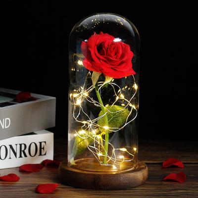 Rose artificielle sous dôme de l...