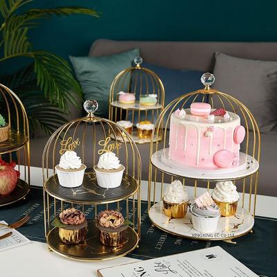 Double plateau à Dessert en céra...