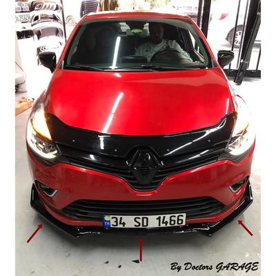 Fixation de pare-choc avant pour Renault Clio 4, accessoire de voiture, noir brillant, diffuseur de