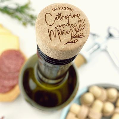 Bouchon de vin personnalisé en b...