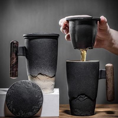 Tasse à thé rétro de luxe en cér...