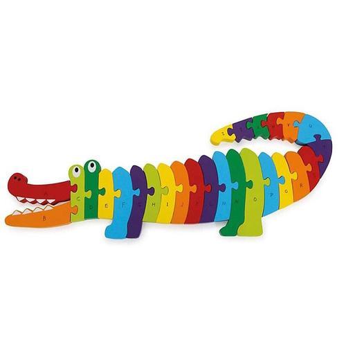 Small Foot Puzzle Krokodil ABC