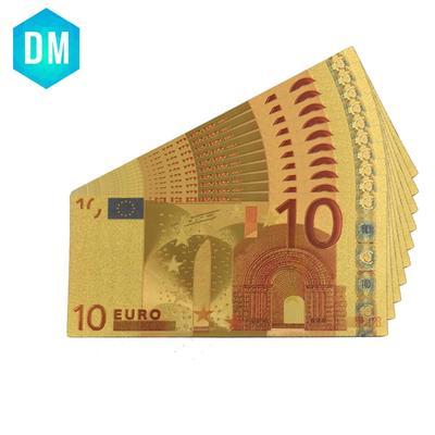 Billet de banque Euro 10 plaqué ...