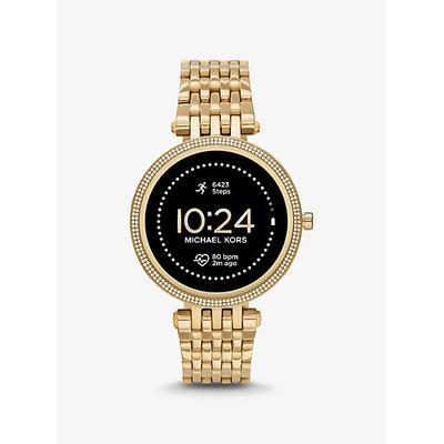 Michael Kors Gen 5E Darci Pavé Gold-Tone Smartwatch Gold One Size