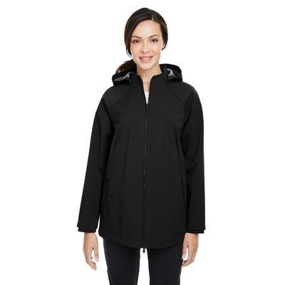 North End NE718W Women's City Hybrid Shell Jacket in Black size 3XL   Polyester/Spandex Blend