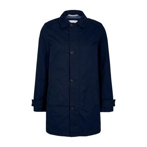 TOM TAILOR Herren kurzer Mantel aus Twill, blau, Gr.M