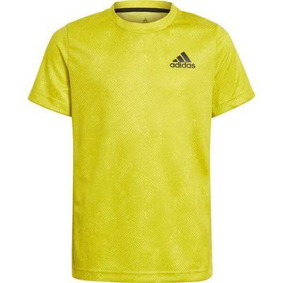 adidas Kinder GEAT.RDY Primeblue Tennis Freelift T-Shirt, Größe 164 in Gelb