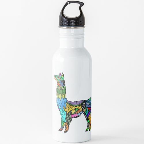 Flecken und Wolle Wasserflasche