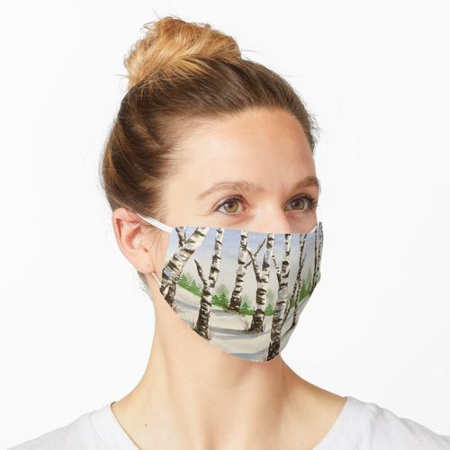 Winterlandschaft Maske