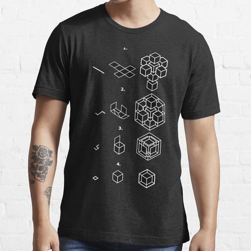 Tesseract Faltanleitung Essential T-Shirt