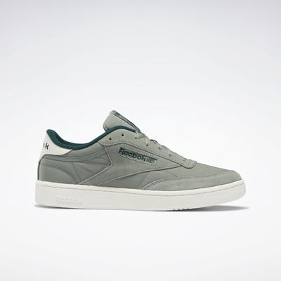 Reebok Men's Club C 85 Shoes in Harmony Green/Forest Green/Chalk Size 9.5 - Court Shoes