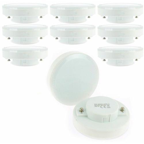 Los mit 10 LED-Lampen GX53 7W Äq. 50W   Farbtemperatur: 4000K neutralweiß