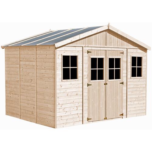 Timbela - Holz Gartenschuppen - Abstellkammer mit Fenstern - 418x318 cm/12 m²