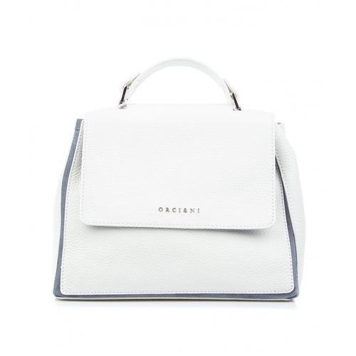 Orciani Damen Handtasche aus Nappaleder Weiß