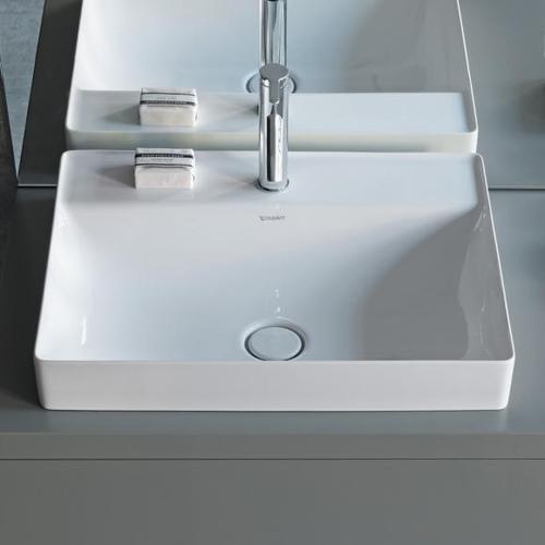 Duravit DuraSquare Aufsatzwaschtisch B: 60 T: 47 cm weiß, mit 1 Hahnloch 2354600041
