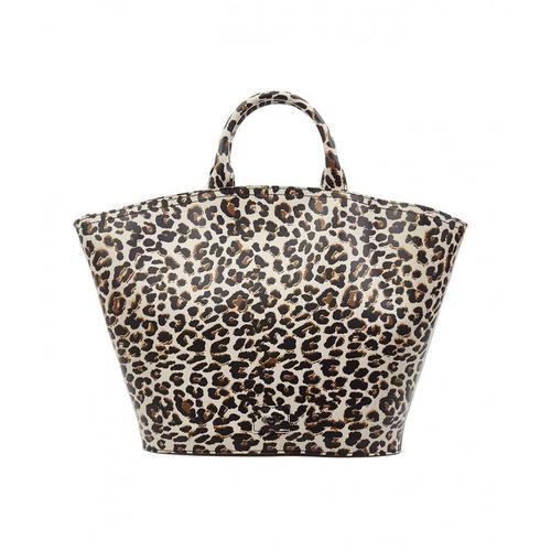 Gum Damen Handtasche mit Animal Druck Braun