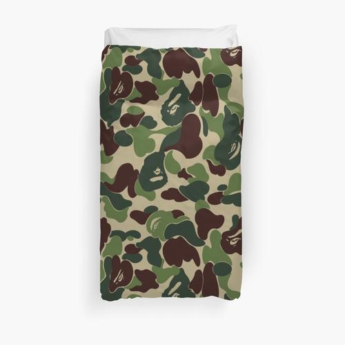 green bape camoflage Duvet Cover