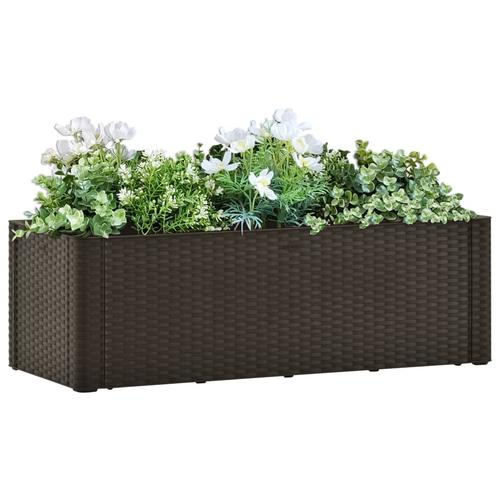 vidaXL Garten-Hochbeet mit Selbstbewässerungssystem Mokka 100x43x33 cm