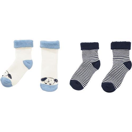 Frottee-Socken, blau, Gr. 15/18