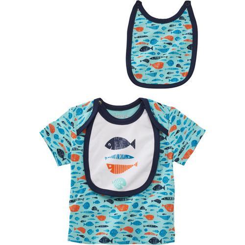 T-Shirt Unterwasserwelt, blau, Gr. 80/86
