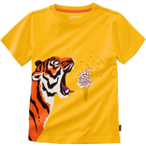 T-Shirt lustige Tiere, gelb, Gr. 116/122
