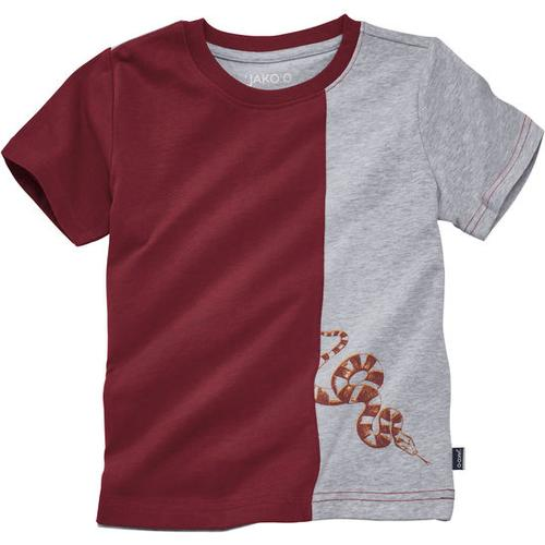 T-Shirt Kontrast, rot, Gr. 92/98
