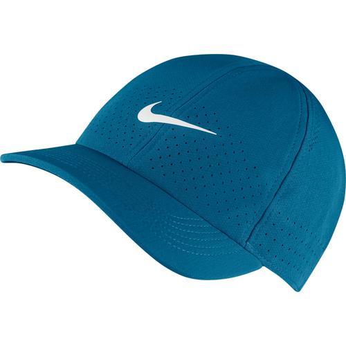 Nike Court Advantage Cap in green abyss-white, Größe Einheitsgröße