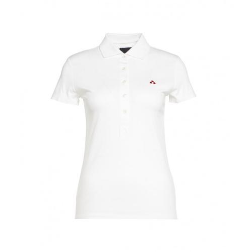 Peuterey Damen Polo mit Logostickerei Weiß