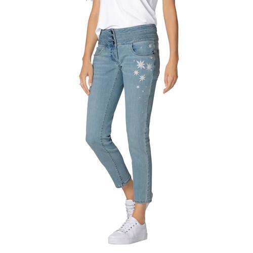 AMY VERMONT, Jeans mit Stickerei, blau