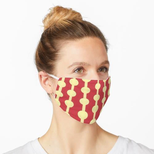 Perlenvorhang-Collage - Rot und Gelb Maske