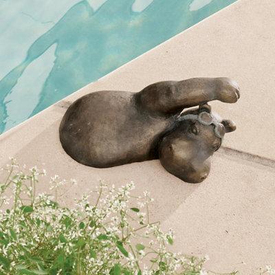 Swimming Hippo Garden Statues - Freestyle - Grandin Road