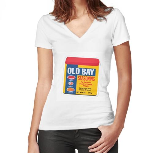 old bay seasoning Women's Fitted V-Neck T-Shirt